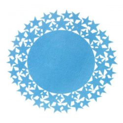 blue felt star placemat