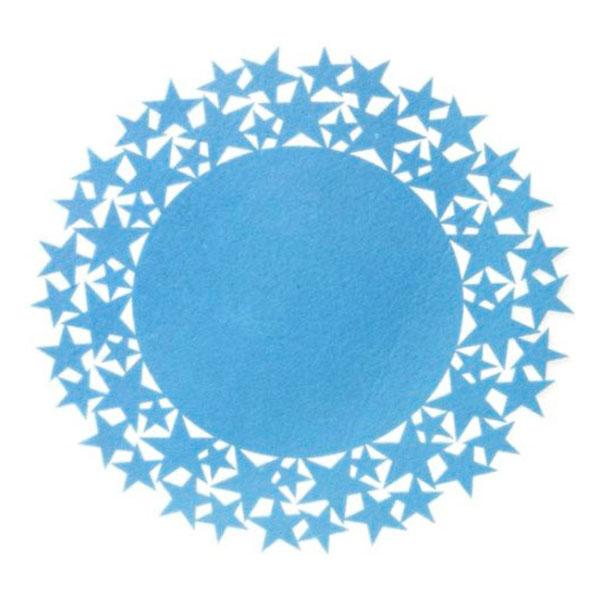 blue felt star placemat