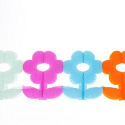 daisy honeycomb paper garland