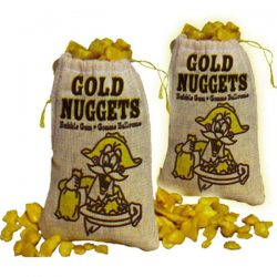 gold nugget bubblegum party sweets