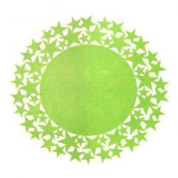 green felt star placemat