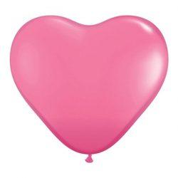 heart balloons rose