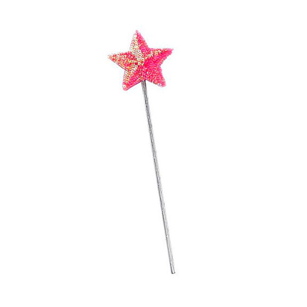 pink sequin wand