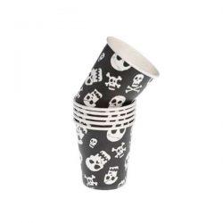 pirate skull paper cups