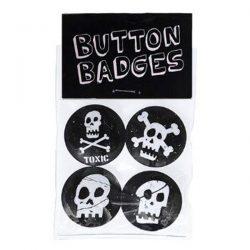 skull button badges