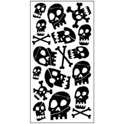 pirate skull temporary tattoos