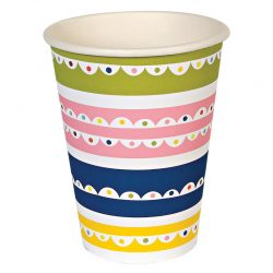 bright patterned paper party cup