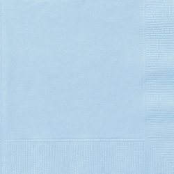 plain baby blue napkins