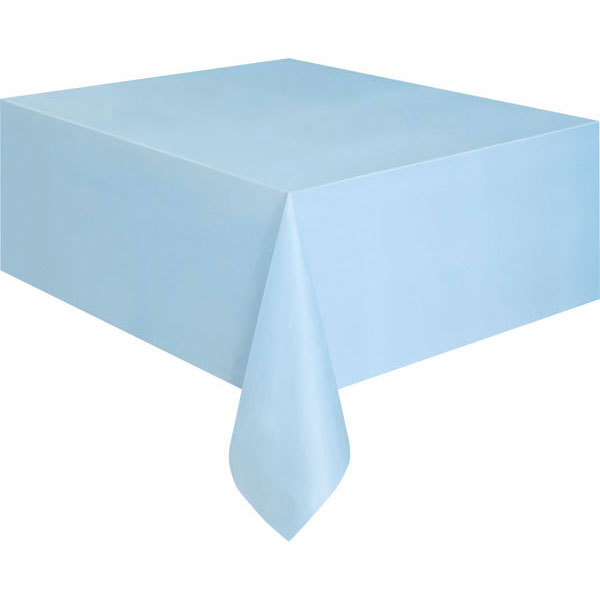 plain baby blue table cover