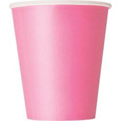 plain hot pink cups
