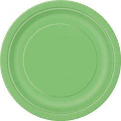 plain lime green plates