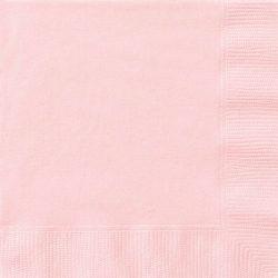 plain pastel pink napkins