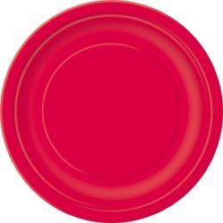 plain ruby red plates