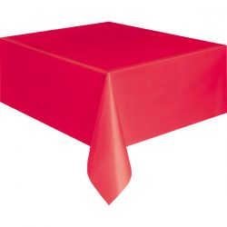 plain ruby red table cover