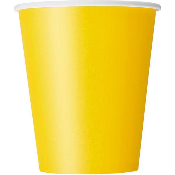 plain sunflower yellow cups