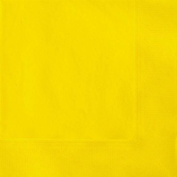 plain sunflower yellow napkins