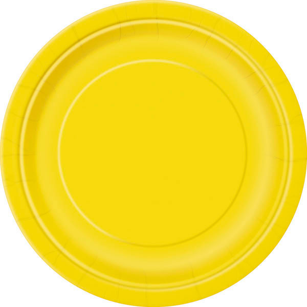 plain sunflower yellow plates