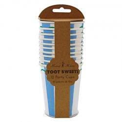 toot sweet blue striped cups