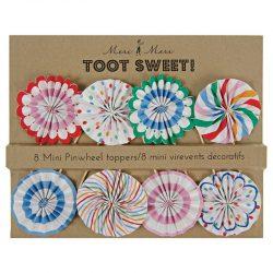 toot sweet mini pinwheel cake toppers