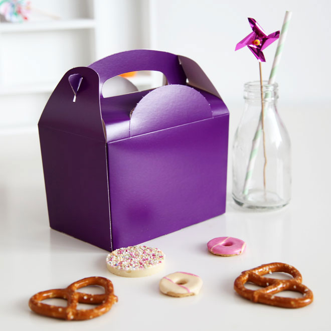 party boxes purple