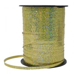 curling ribbon gold hologram