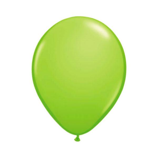 lime green balloons