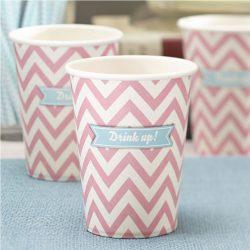 chevron divine paper cups