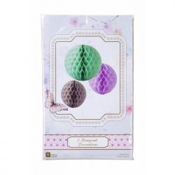 macaroon honeycomb party decorations