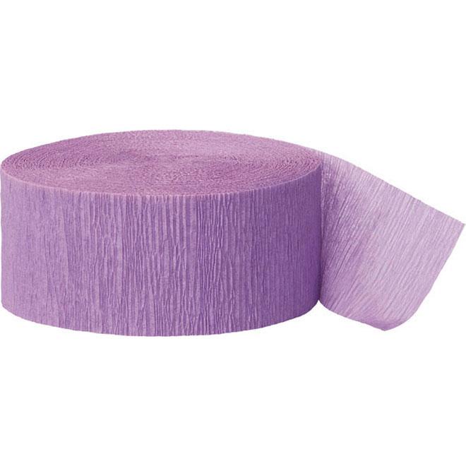 lavender crepe paper party streamer