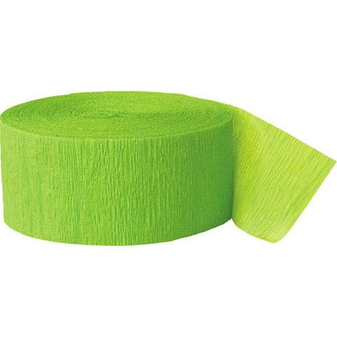 lime green crepe paper streamer