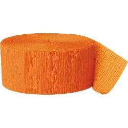 orange crepe paper party streamer