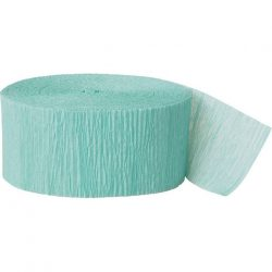 seafoam crepe paper party streamer