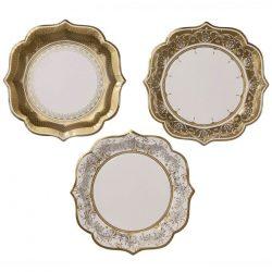 party porcelain gold plates