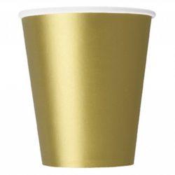plain gold cups