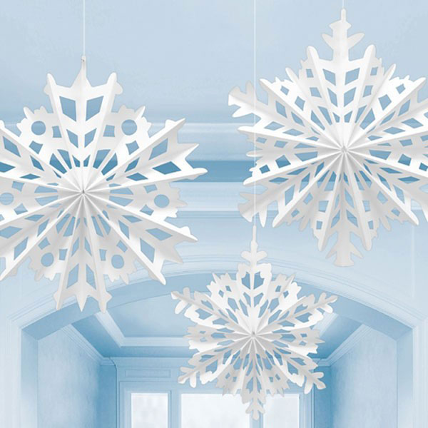 snowflake fan decorations