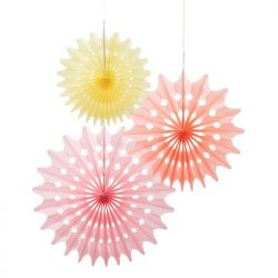 sorbet fan decorations paper