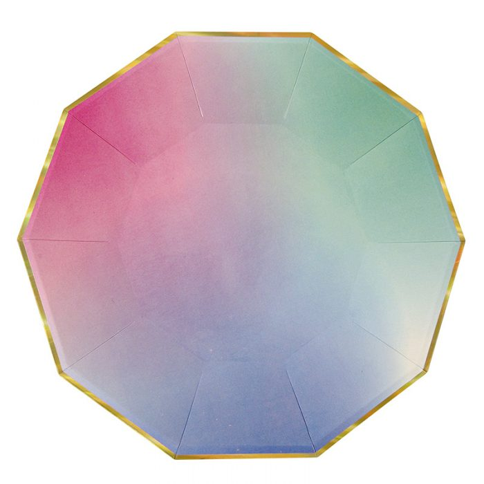 ombre plate