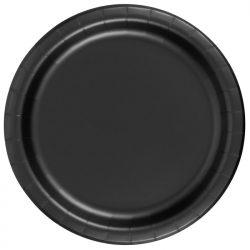 black paper plates