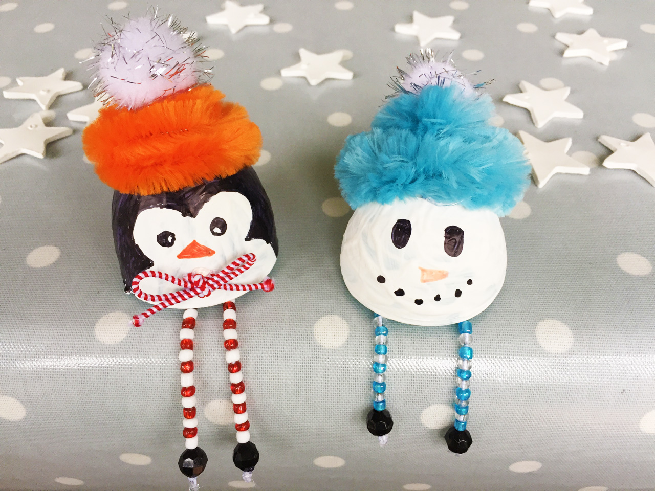 Cute Christmas Egg Head Decorations
