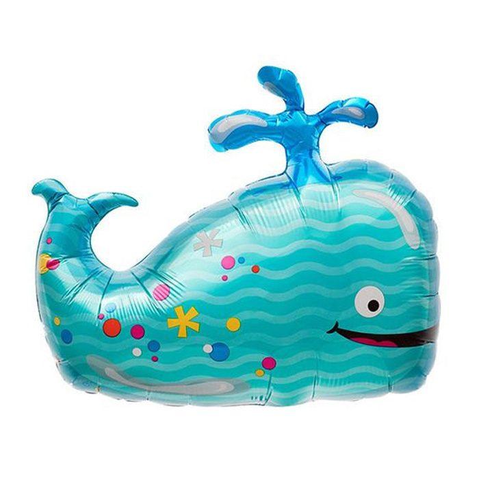 Small whale foil balloon
