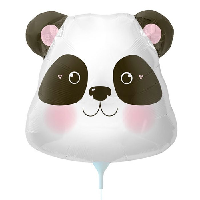 Small panda foil balloon