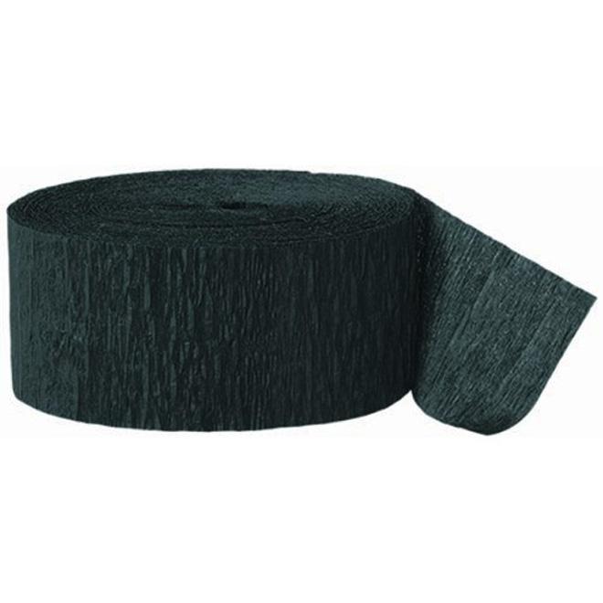 Crepe paper party streamer black