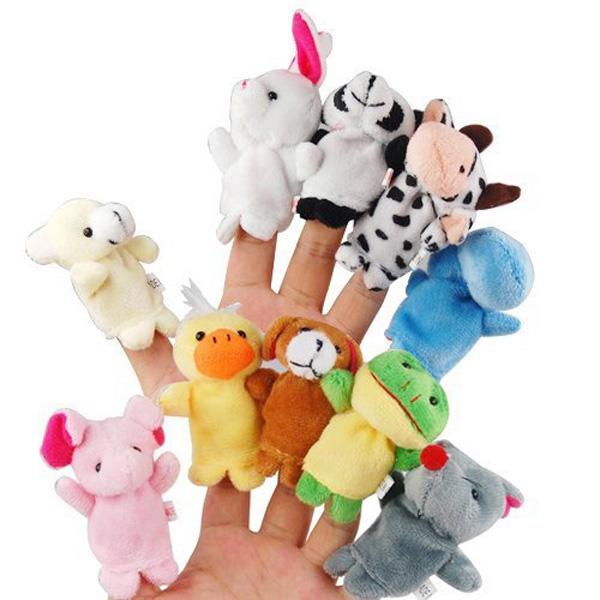 Soft animal finger puppets