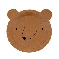 Bear face cardboard plates