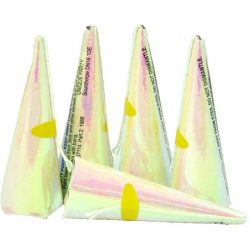 Iridescent cone party popper