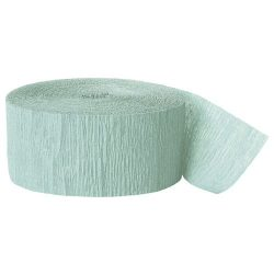 mint crepe paper party streamer