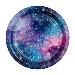 Galaxy paper plate