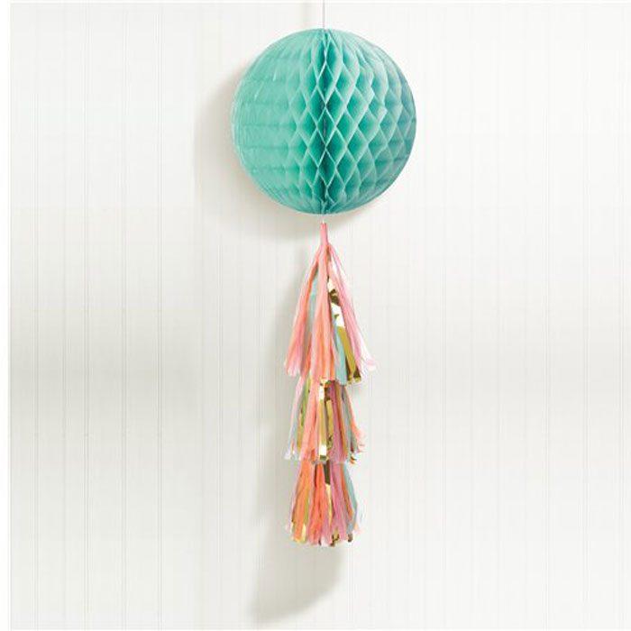Pastel honeycomb globe with tassel