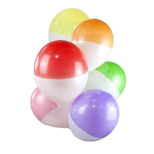 Rainbow two tone balloons