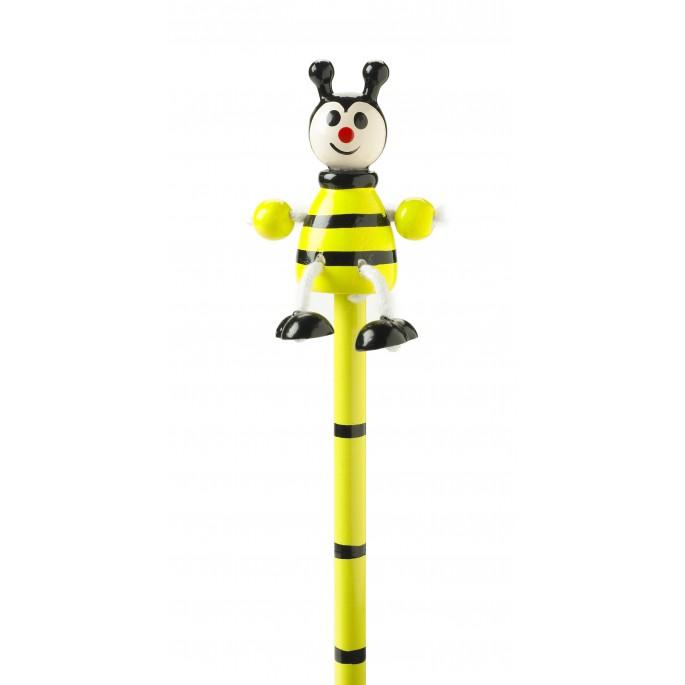 Wooden bee pencil